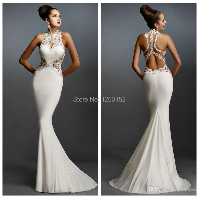 Elegant White Evening Dress