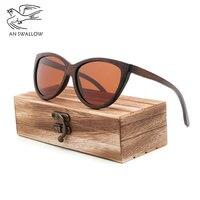 7407086322017c 100 Pure Brown Bamboo Sunglasses Women 2018 Fashion Sunglasses Men  Polarized Shades For Women UV400 Retro