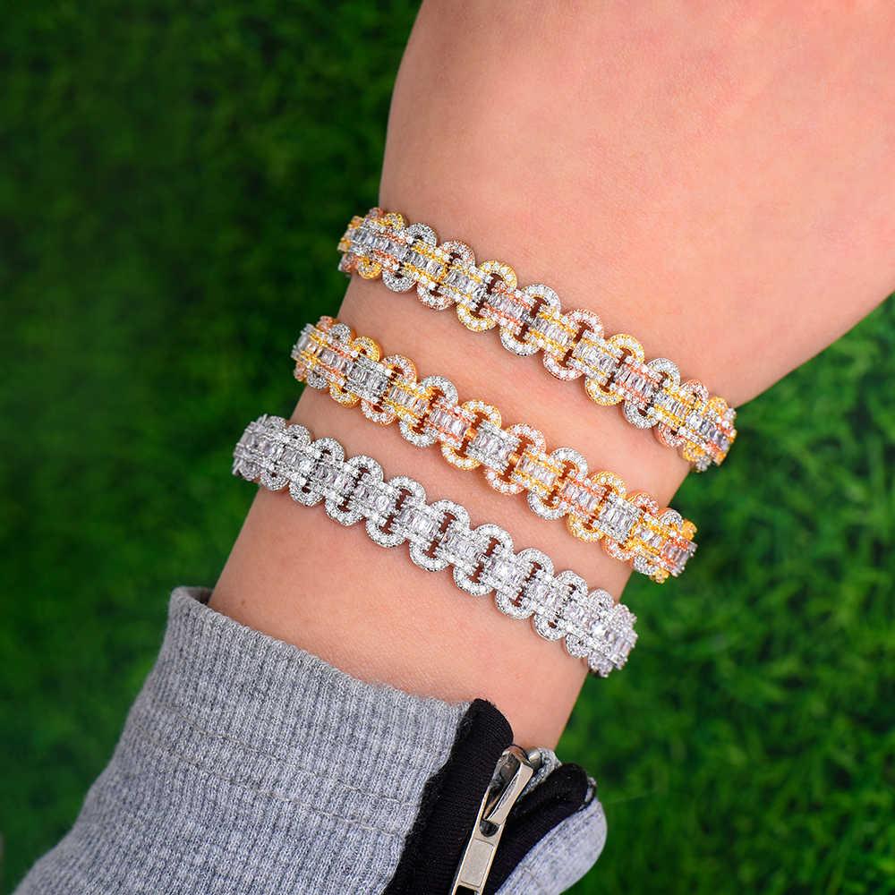 GODKI อินเทรนด์หรูหรา STACKABLE กำไลข้อมือสำหรับงานแต่งงาน Cubic Zircon คริสตัล CZ ดูไบเงินสร้อยข้อมือ Jewelry2019