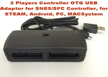 2 Players Controller OTG USB Adaptor for SNES/SFC Controller, for STEAM, Android, PC, MAC and Raspberry PI