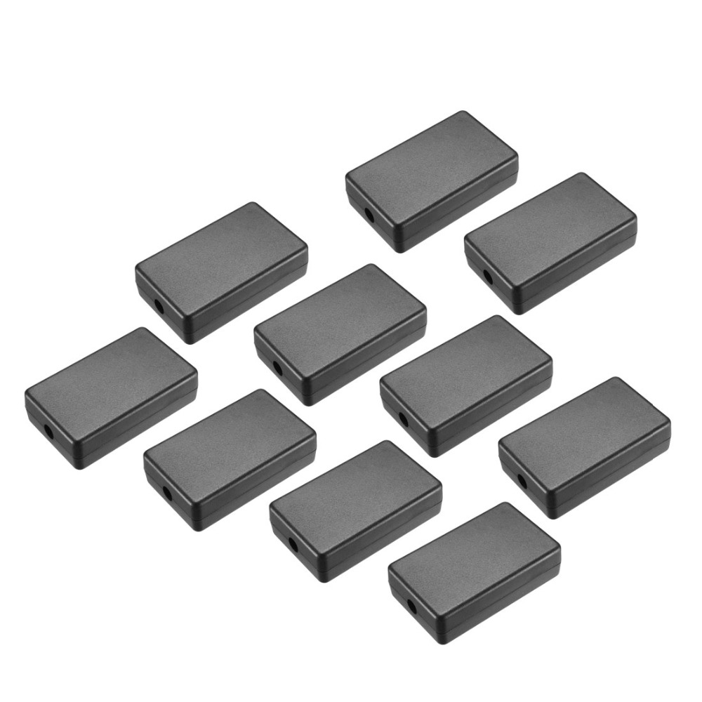 Uxcell 10Pcs/lot 40 X 20 X 10.5mm/40 X 20 X 11mm/60 X 36 X 17mm Black ABS Electronic Plastic DIY Junction Box Enclosure Case