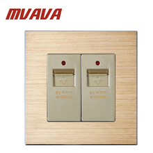 MVAVA Double USB Port Wall Charger Socket Panel Power Outlet Professional Electrical Usb Plug