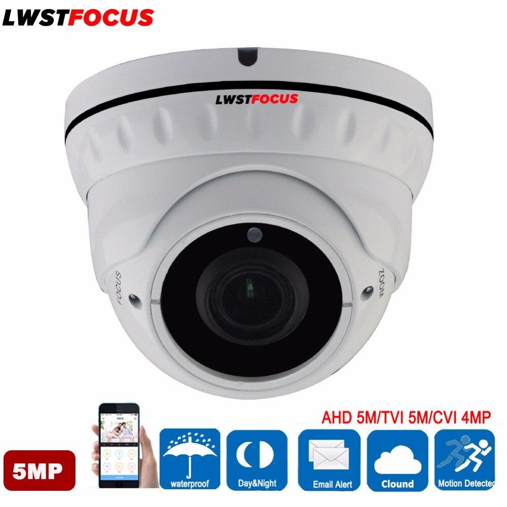 2 8 12mm Manual Zoom Lens AHD TVI 5MP AHD Camera Surveillance font b Outdoor b