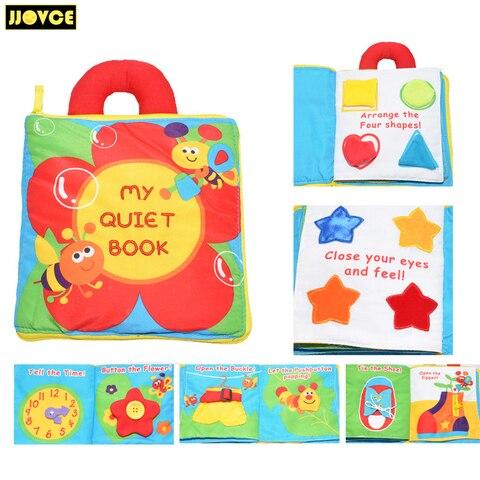 jjovce tecido do bebe livro livros de pano do bebe brinquedo aprendizagem precoce educacional aprender