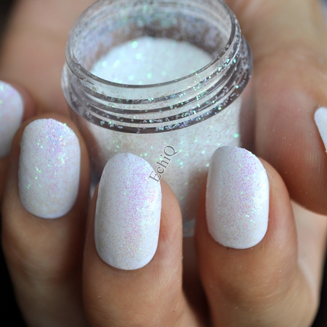 Holographic Glitter Powder Purple Shade Clear White Nail Art DIY UV ...