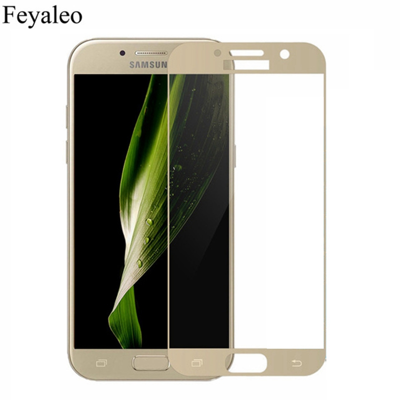 For <font><b>Samsung</b></font> Galaxy A5 2017 Full Cover Screen Protector 9H Tempered <font><b>Glass</b></font> Safety Covering Protective Film On <font><b>A</b></font> 5 <font><b>7</b></font> A520 A520F image