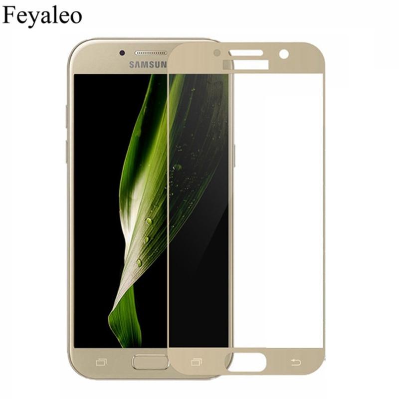 Для Samsung Galaxy A5 2017 полная защита экрана 9H Закаленное стекло Защитная пленка на 5 7 A520 A520F