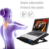 ICE COOREL K6 Laptop Cooler 2 USB Ports 6 Cooling Fan Notebook PC Holder Pad Stand for 12 15.6 inch Laptops