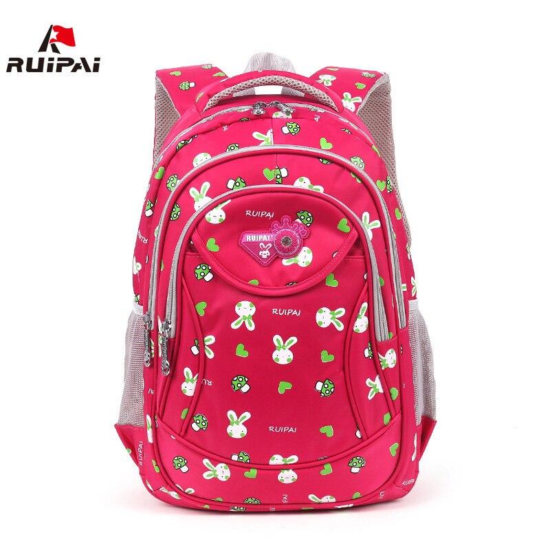 RUIPAI Fashion Kids Polyester Rabbit school Backpack Schoolbags Kids Bags Mochila For Boys Girls Babys School Students Rucksack