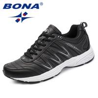 BONA New Popular Style Men Casual Shoes Split Leather Men Fashion Sneakers Shoes Lace Up Men