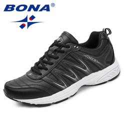 BONA New Popular Style Men Casual Shoes Split Leather Men Fashion Sneakers Shoes Lace Up Men Loafers Comfortable Free Shipping
