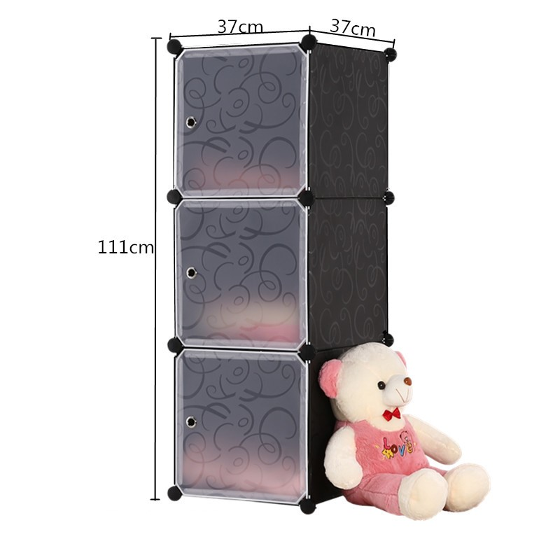 Simple Wardrobes DIY PVC Fold Portable Storage Cabinet Dormitory Steel Frame Assembly Lockers Student Wardrobe Free Shipping