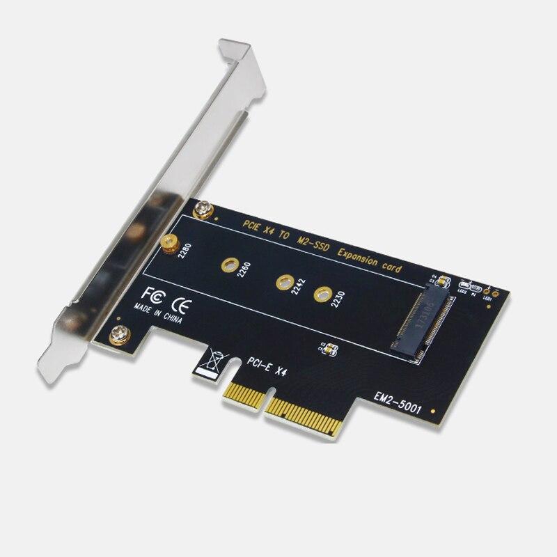 M.2 NVMe SSD NGFF PCIE X4 adaptateur M Clé Interface Support de la Carte PCI Express 3.0 2230-2280 Taille m.2 PLEINE VITESSE Bonne Riser Card