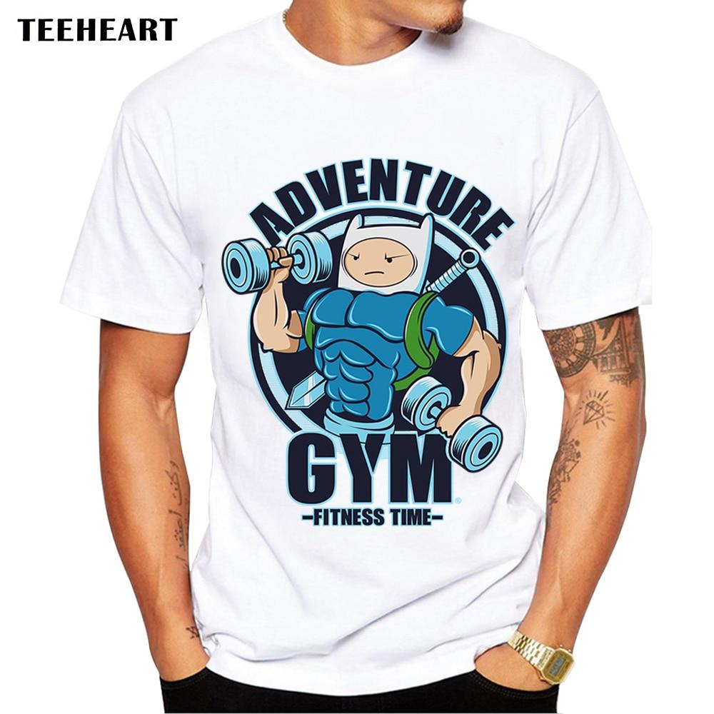 e5d83905 TEEHEART Fashion Men T-shirts Short Sleeve Bodybuilding Top Tees pa138