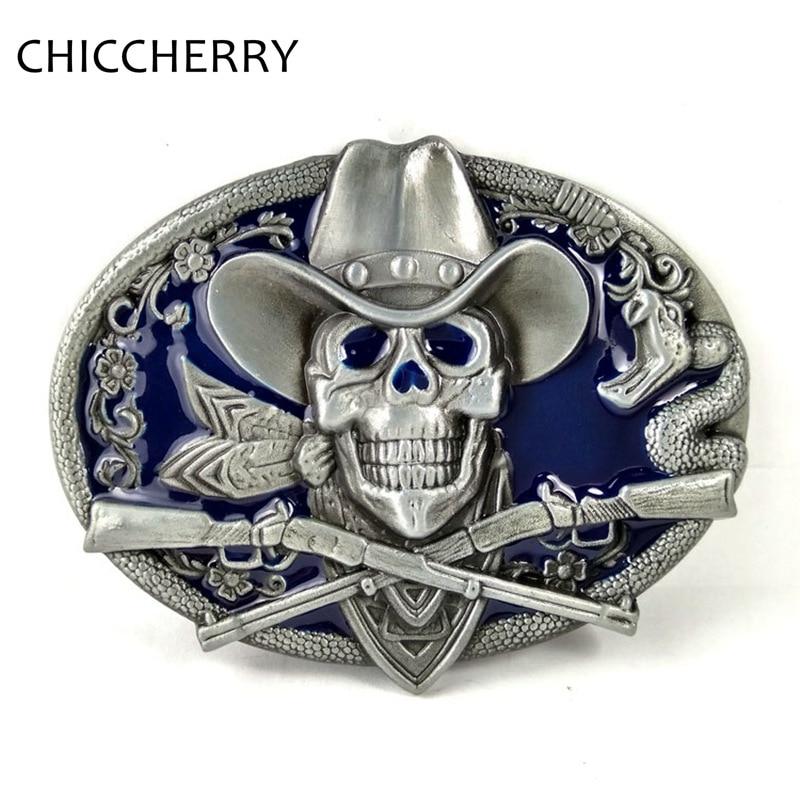 Male Accessories Cool Western Cowboy Vintage Retro Style Skull Pirate Big  Belt Buckle Metal For Men Belts Fivela Caveira Hombre 227b2035cc0