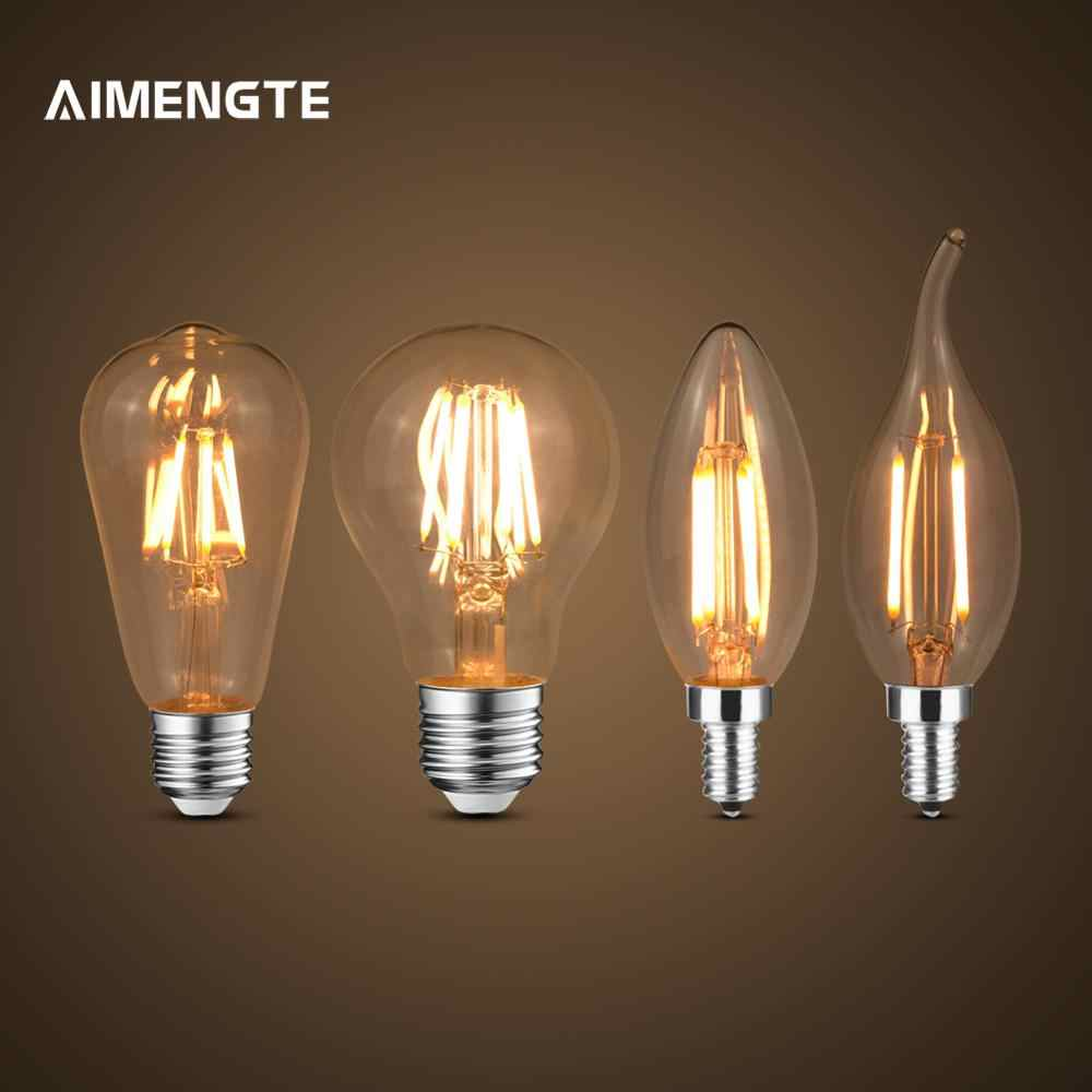 Retro Edison Light Bulb E27 E14 220V Warm White Filament Vintage  Incandescent Bulb Edison Lamp Decor light Lamp Base Converter