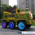 Passeio em cars crianças ao ar livre fun & sports passeio em toys mais recente estilo trem com controle remoto e 12 v bateria Trailer
