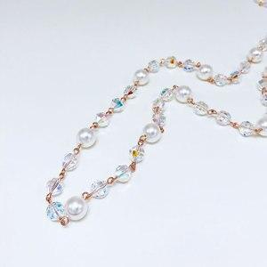 Image 3 - Viennois Perle Lange Halskette Für Frauen Mischen Farbe Perle Halskette Pullover Kette Halskette Koreanische Stil Halskette Mode Schmuck