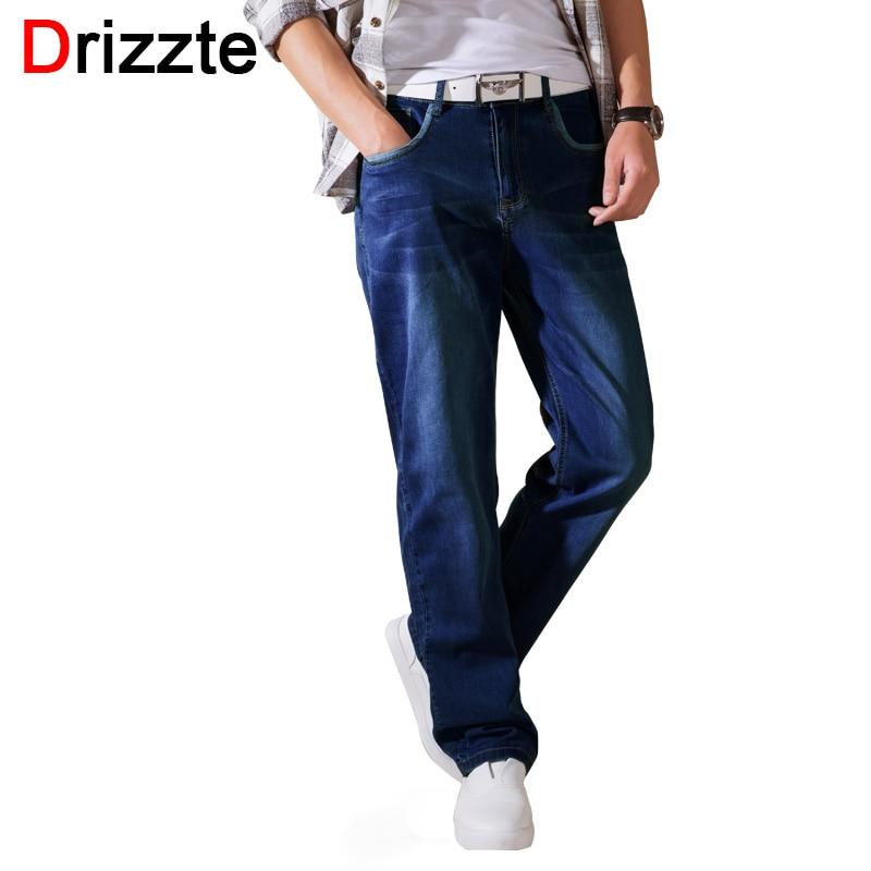 Drizzte หลวมพอดีฤดูร้อนบางกางเกงยีนส์ผู้ชายยืดกางเกงยีนส์ผ่อนคลายกางเกงกางเกงกางเกงยีนพลัสขนาด 36 38 40 42 44 3 สี-ใน ยีนส์ จาก เสื้อผ้าผู้ชาย บน AliExpress - 11.11_สิบเอ็ด สิบเอ็ดวันคนโสด 1