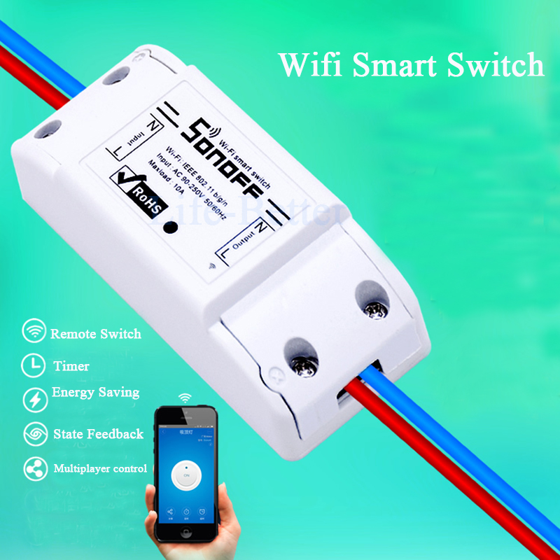 New Sonoff Smart Remote Control Wifi Switch Smart Home Automation Inte