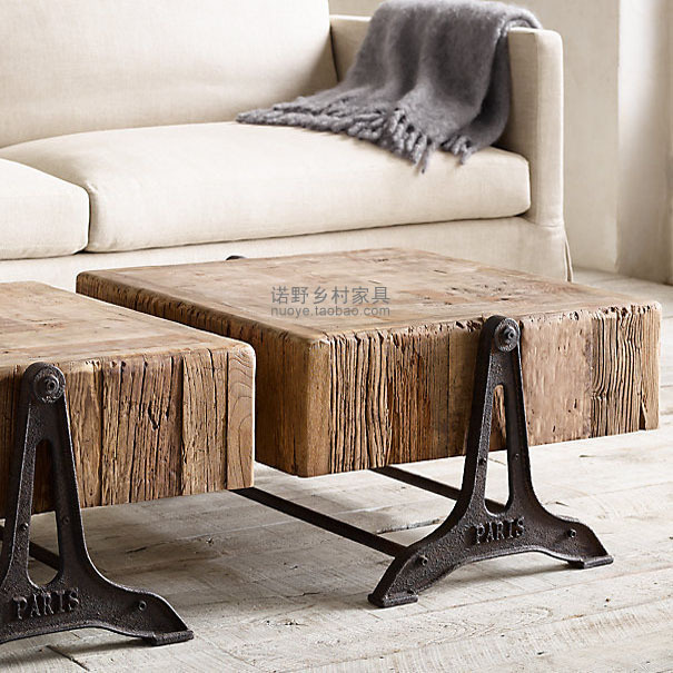 1910 S Paris Retro Industrial Loft Coffee Table Coffee Table Rural