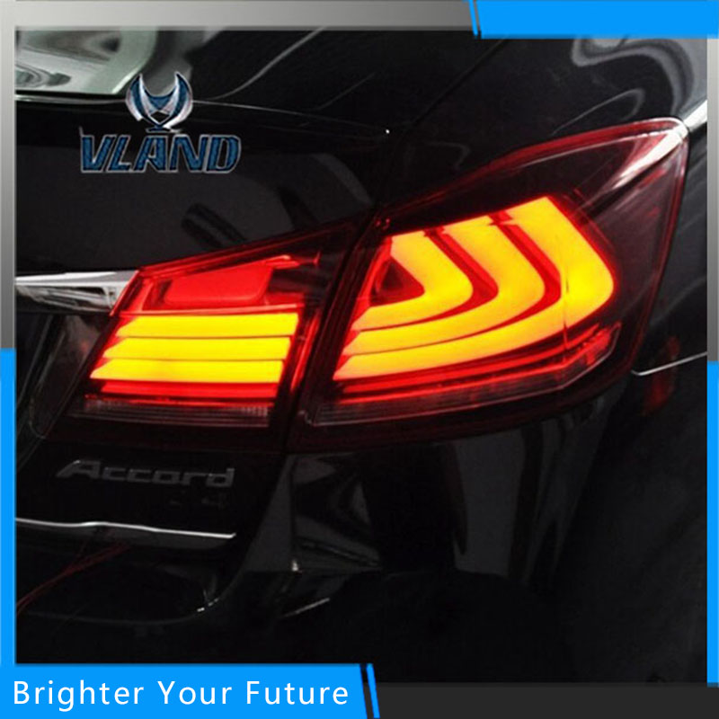 Car Style LED Tail Lights Rear Lamps Tail Lamps For Honda Accord Sedan 2014~2016 DRL+Brake+Park+Signal led