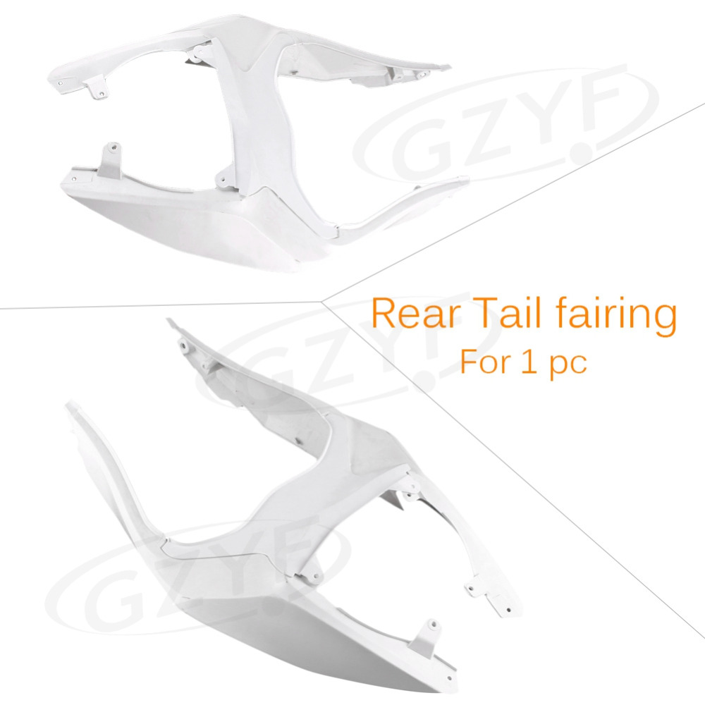 цены Unpainted  Tail Rear Fairing Cover Bodykits Bodywork for KAWASAKI 2012 2013 NINJA ZX6R Injection Mold ABS Plastic