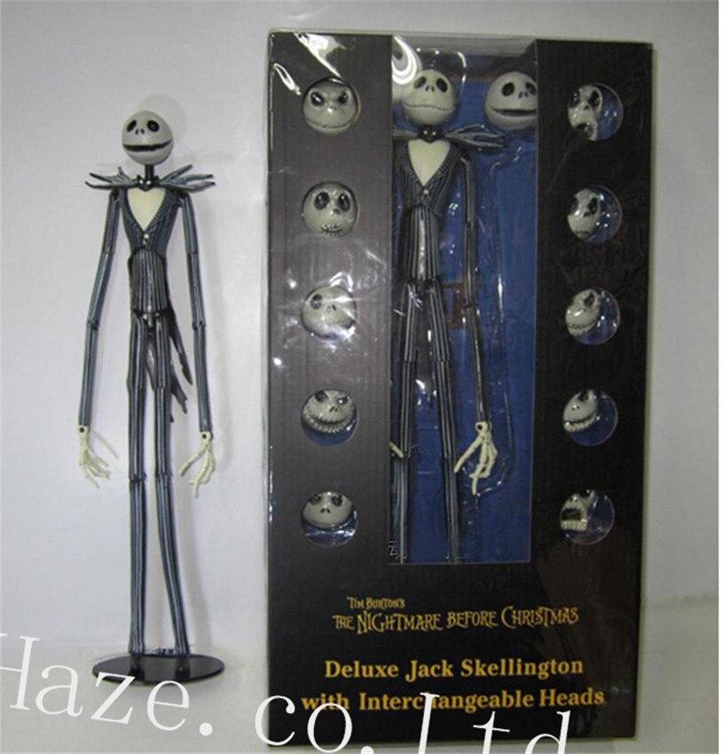ФОТО The Nightmare Before Christmas Jack Skellington 12 Skull Heads PVC Figure Figurine