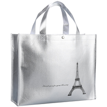 2019 New Silver Coating Non-woven bag Tote Package High-Quality Handbags Tote bags Reusable grocery High capacity Shopping Bag цена в Москве и Питере