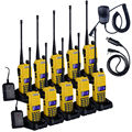 10PCS Walkie Talkie BAOFENG UV-82 Dual Band VHF UHF 136-174/400-520MHz Two Way Radio + 1PCS NKTECH USB Cable +1PCS Speaker Mic