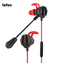 Lefon Gaming Headset Earphone With Mic Noise Cancelling Stereo earbuds For Phone PC PS4 Computer Corded Volume Control free shipping game gaming earphone new for pc mobile phone ps4 mic audio bass noise cancelling