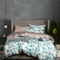 22Colors Luxury Egyptian Cotton Bohemia Bedding Set Queen King Size 3d Flower Leaf Print Duvet Cover Bed Sheet Set Pillowcase