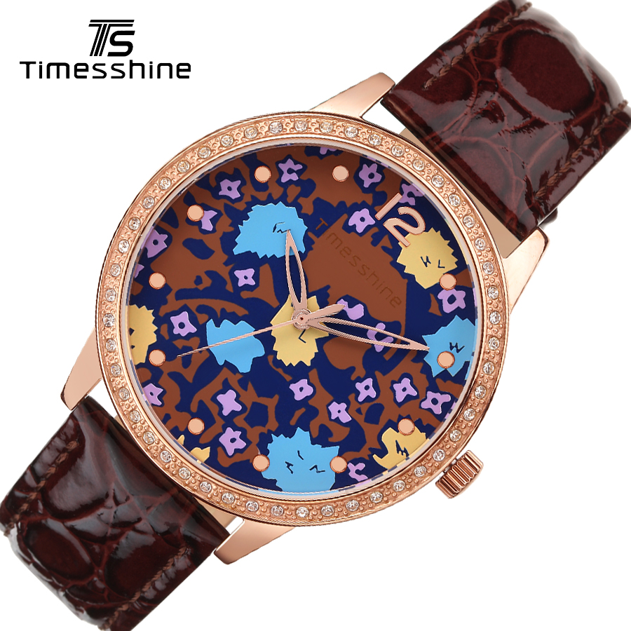 2017 watches women fashion watch Timesshine Couple watches Luxury crystal diamond Genuine leather women/men quartz watches timesshine women watch quartz watch