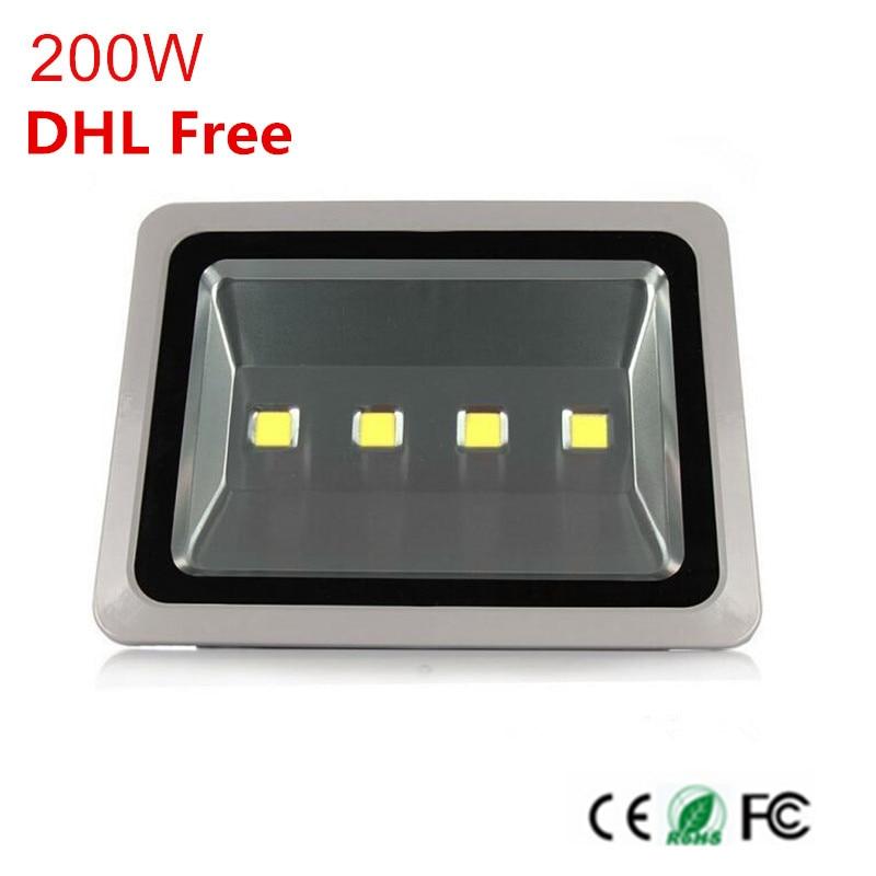 Best качество Водонепроницаемый заливающее 200 Вт Светодиодный прожектор высокой Мощность Epistar фишек Spotlight AC85-265V уличный светильник наружного ...