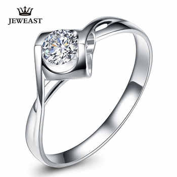 Natural diamond Ring 18k Gold Women Lover Couple Anniversary Romantic Propose Engaged Wedding Party South African 2017 New Good - DISCOUNT ITEM  55% OFF All Category