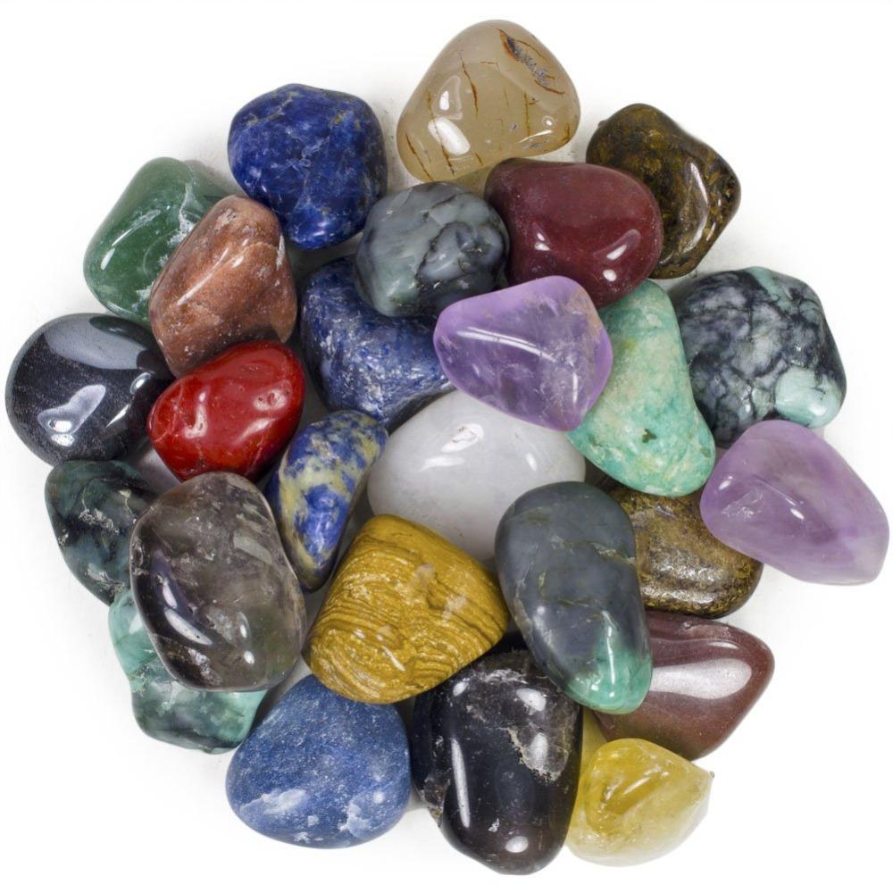 Trgovina na debelo Mešani Lot Tumbled Quartz, Amethys t, Aventurin, Obsidijan Lapis Reiki zdravilni kristalni kamen 1kg / lot