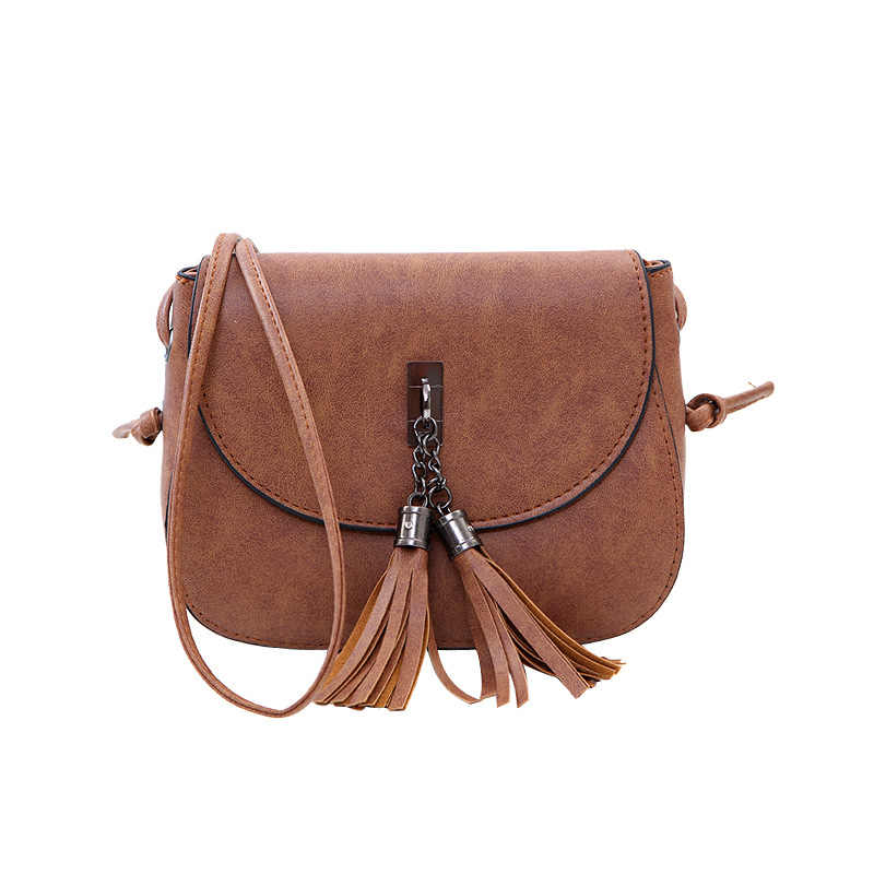 2019 Mini Women Messenger Bags Pu leather Women Shoulder Bag Tassel Solid Clutches Chain Women Crossbody Bags Tote