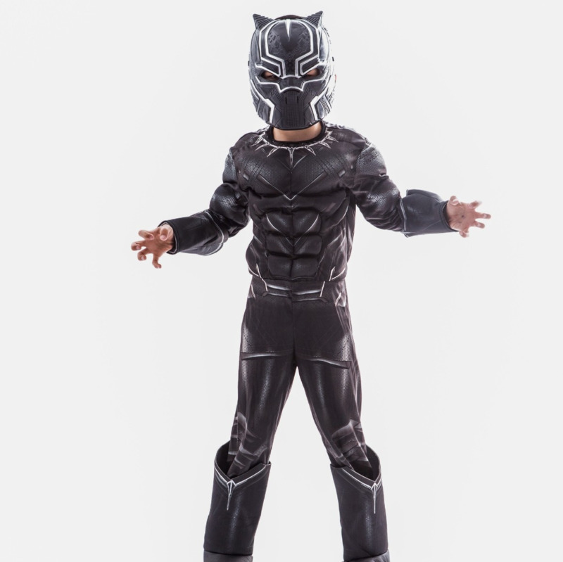 black panther mask cosplay avengers children girls boys  2018 marvel Muscle captain america civil war halloween costume for kids