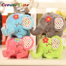 new Kawaii BIG Floral Elephant 12CM Approx. cute Plush DOLL Stuffed elephant TOY Sucker Car Room Window Pendant Bouquet TOY gift