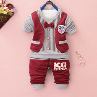 Anlencool 2017New Arrival Coat New Kids Fall Baby Clothing Korean Version Of The Cotton Tie Boy Suit Clothes boys Set Shipping