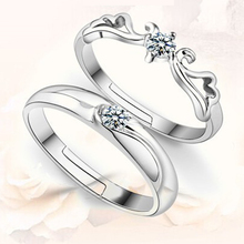 Крылья кольца для любителей изящных Ювелирных Изделий посеребренные кольцо открытие счастливая пара кольцо лучший друг Рождественские подарки кольца