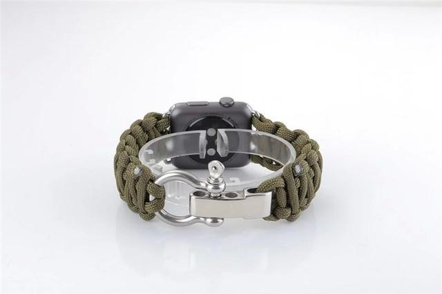 Faixa de relógio de corda tecida para apple watch iwatch 38/42mm cinta de nylon esportes ao ar livre