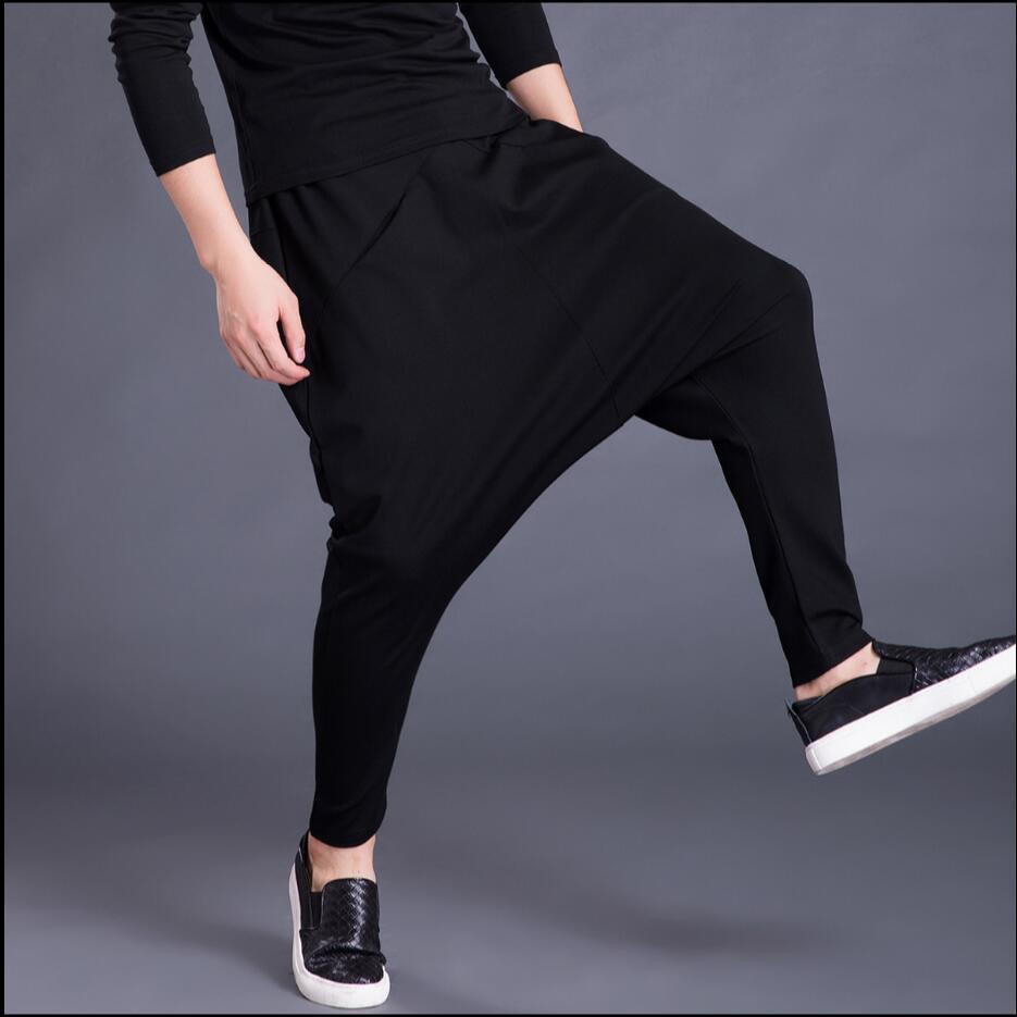 Nuevo De 5xl Pantalones Casual Hairstylist Invierno Marea Largo Hombre Gran Cantante Harem Ardilla S Tamaño Pies Negro Trajes Caída YHpwqxq