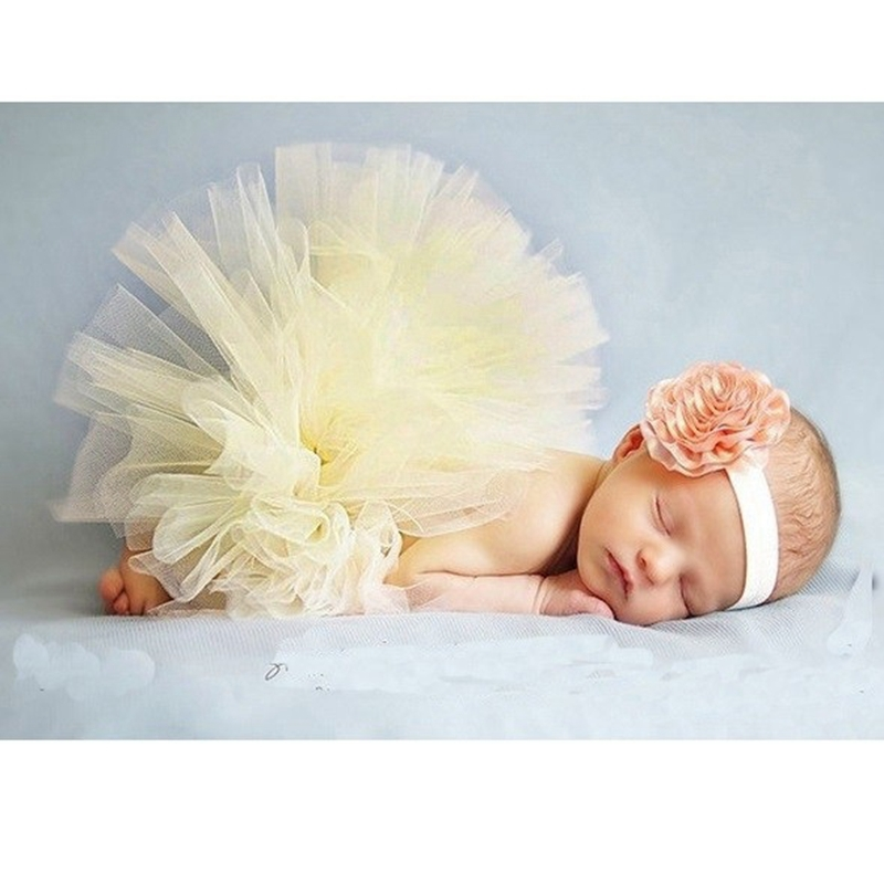 Summer style baby tutu skirt Kids tulle skirt Newborn photography clothing photo prop Children headband clothes for girls HB412 newborn baby photography props infant knit crochet costume peacock photo prop costume headband hat clothes set baby shower gift