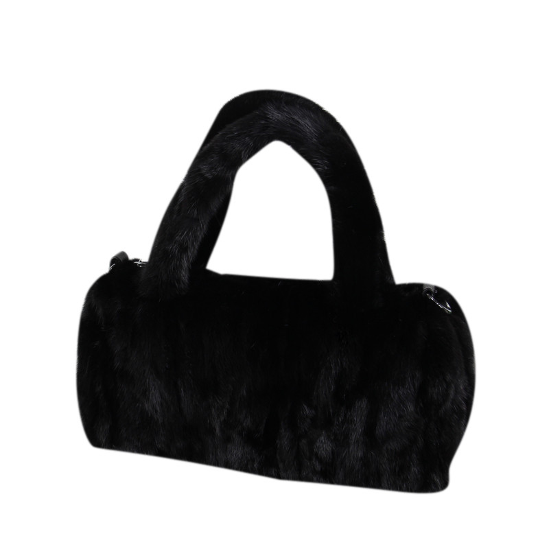 Women Mink bag 2018 new ladies fur bag fashion Mink fur handbag leisure fox fur bag black female bag B11 cx c 128c hot sale fashion women mink fur wholesale woman mink fur women hat drop shipping