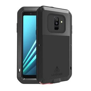 Image 5 - Miłość Mei obudowa marki dla Samsung Galaxy A9 A6 A8 Plus 2018 S10 Plus S10E S10 5G A70 2019 metalowy pancerz, odporna na wstrząsy telefon obudowa