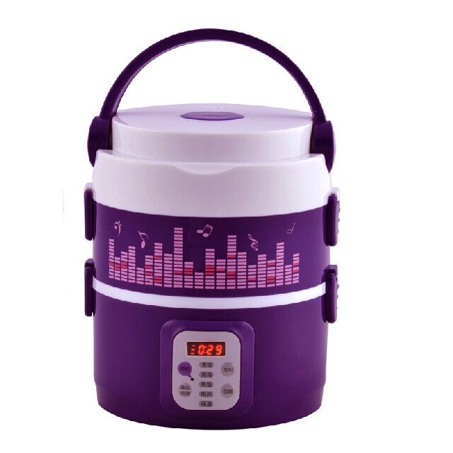 Reservation Electric Lunch Box Plug-in Heating Insulation 304 Stainless Steel Liner Three Layers Multifunction Timing Lunch Box raccoon electric lunch box independent double layer heat the lunch box stainless steel liner plug in hot lunch box steamer
