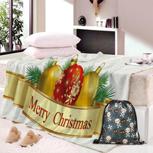 Custom Christmas Super Soft Cozy Throw Hoodied Blanket In Cap Warm For Couch Travel Hooded Anime
