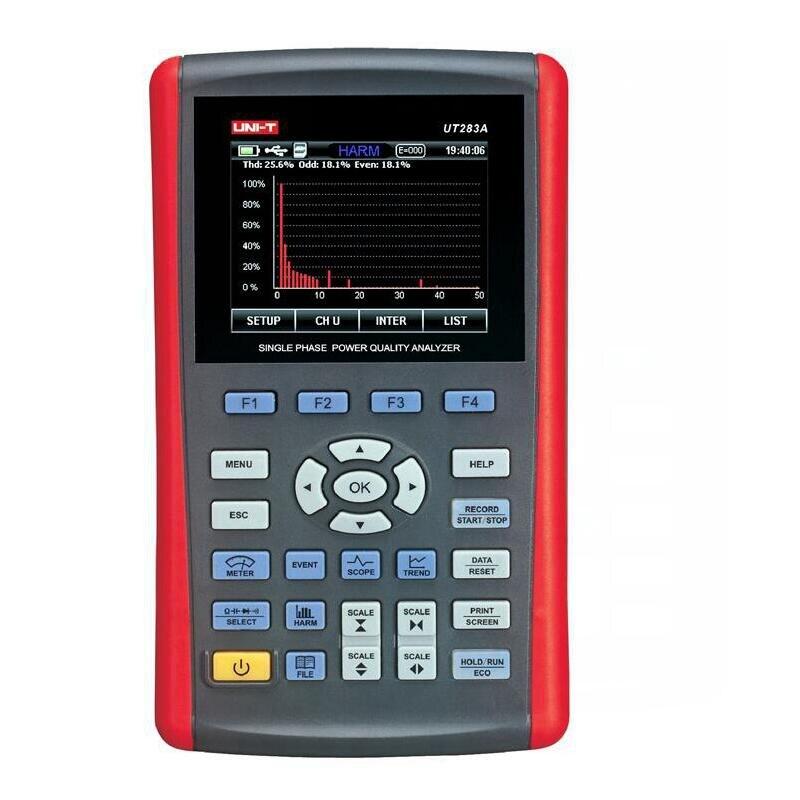 UNI-T UT283A Analyseur de Qualité D'énergie Monophasé compteur d'énergie True RMS Interface USB UT-283A