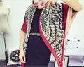 2015 New Autumn&Winter Woman Scarf HP Owl Pattern Pashmina&Shawls Brand Feather Decorated Bandana Woman